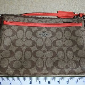 Coach Mini Crossbody with zippered checkbook pouch